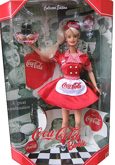 коллекционная барби кока-кола Barbie Coca-cola Waitress