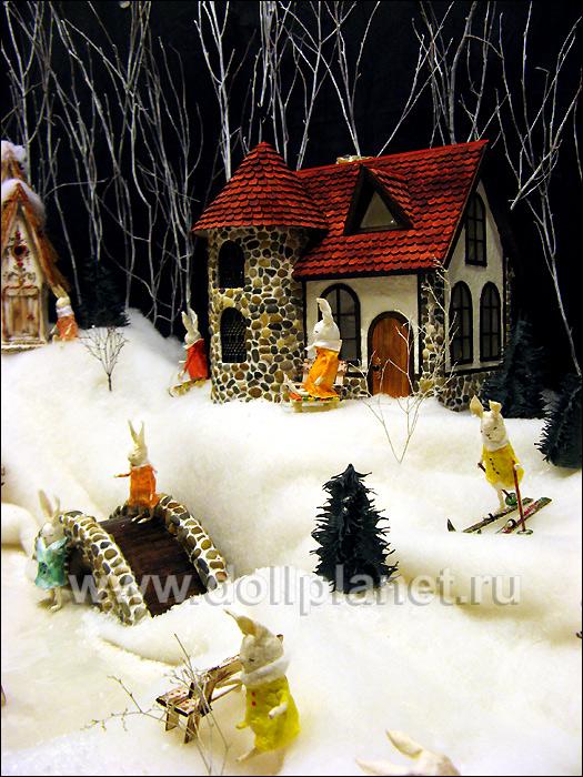 """кукольные домики и миниатюра """"Заячья деревня"""""""