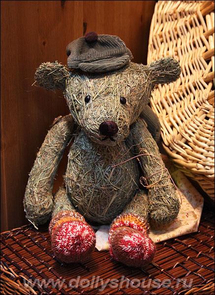 Авторская игрушка медведь из соломы Анна Петриченко